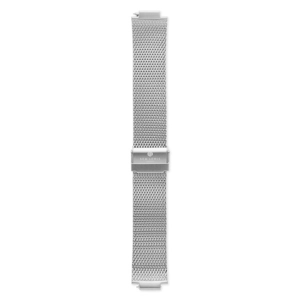 Sem Lewis Moorgate steel mesh watch strap 24 mm silver colored