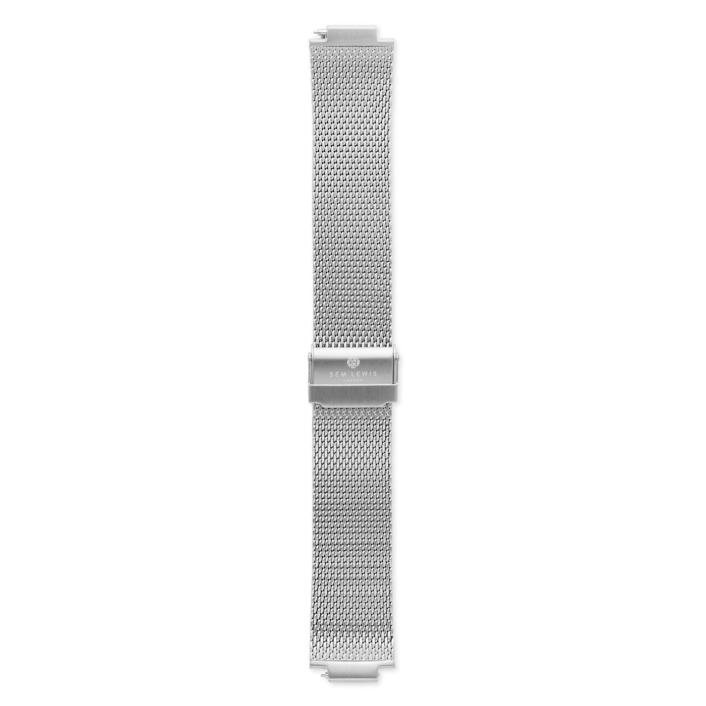 Sem Lewis Moorgate klockarmband i stålnät 24 mm silverfärgad