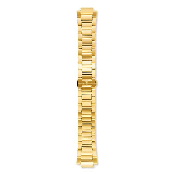 Sem Lewis Moorgate stalen horlogeband 24 mm goudkleurig