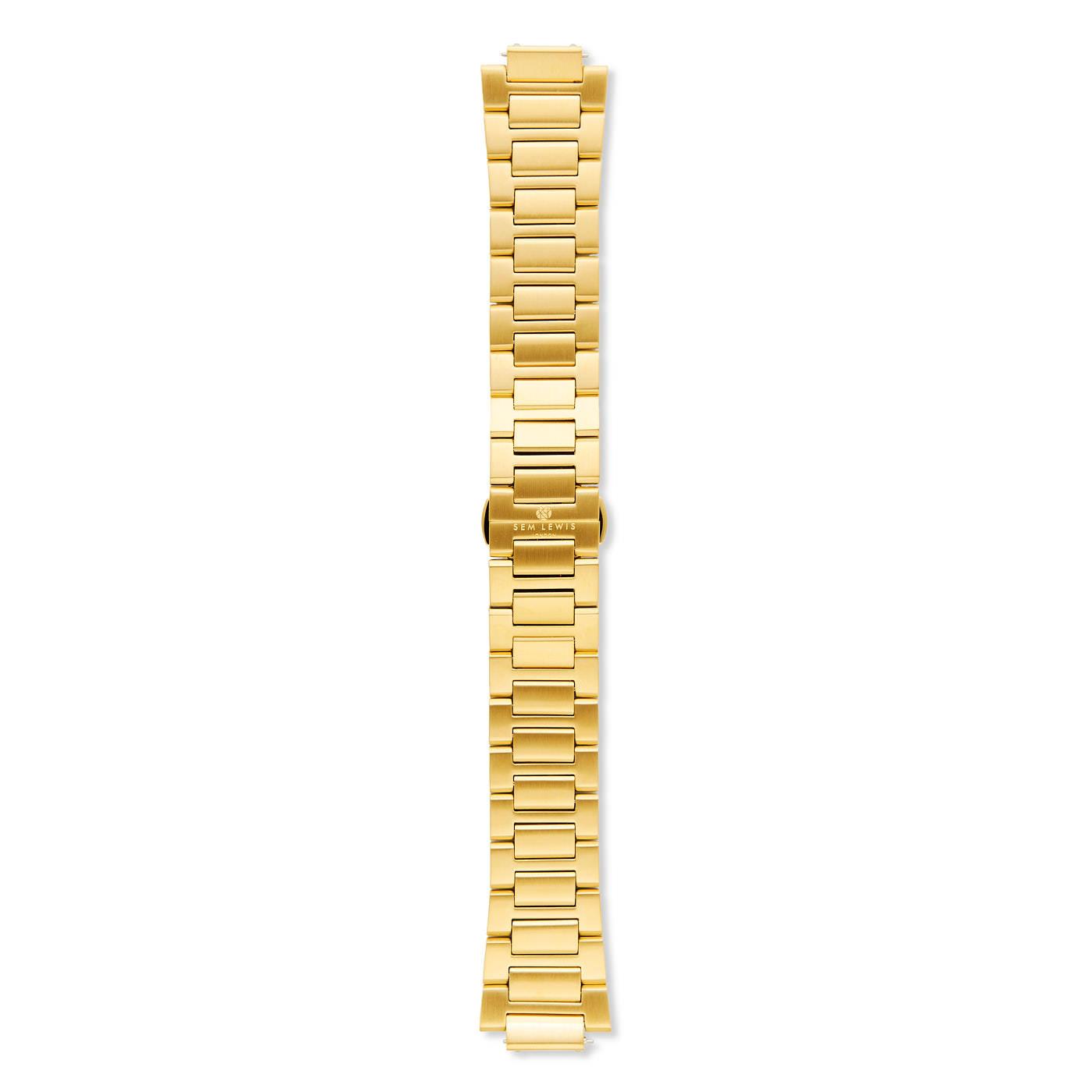 Sem Lewis Moorgate bracelet de montre en acier 24 mm couleur or