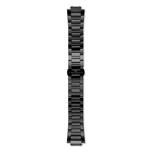Sem Lewis Moorgate Edelstahl Uhrenarmband 24 mm schwarz