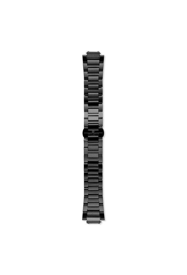 Sem Lewis Moorgate stalen horlogeband 24 mm zwart