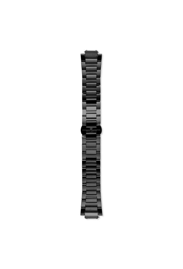 Sem Lewis Moorgate stalen horlogeband 24mm zwart