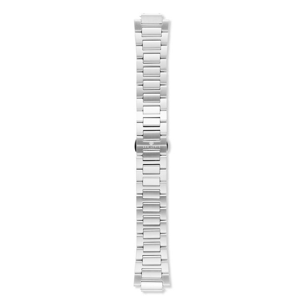 Sem Lewis Moorgate steel watch strap 24 mm silver colored