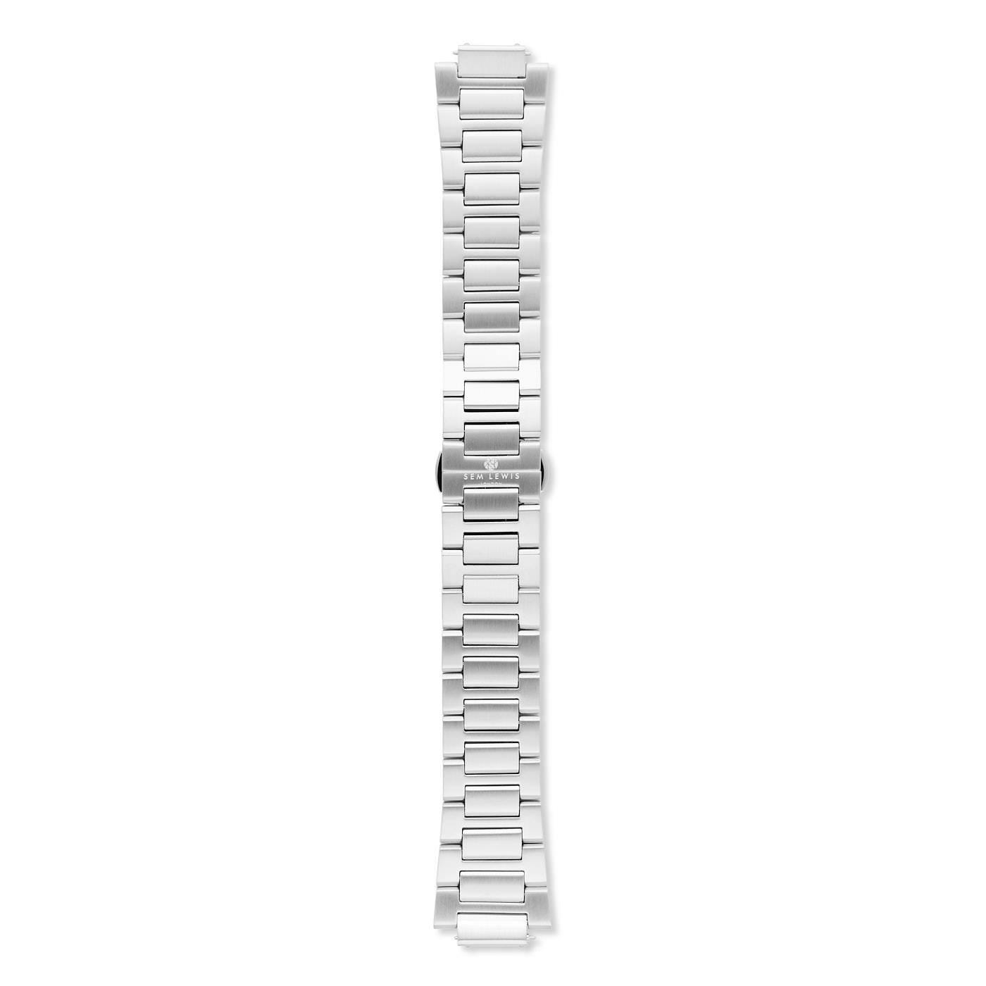 Sem Lewis Moorgate stalen horlogeband 24 mm zilverkleurig