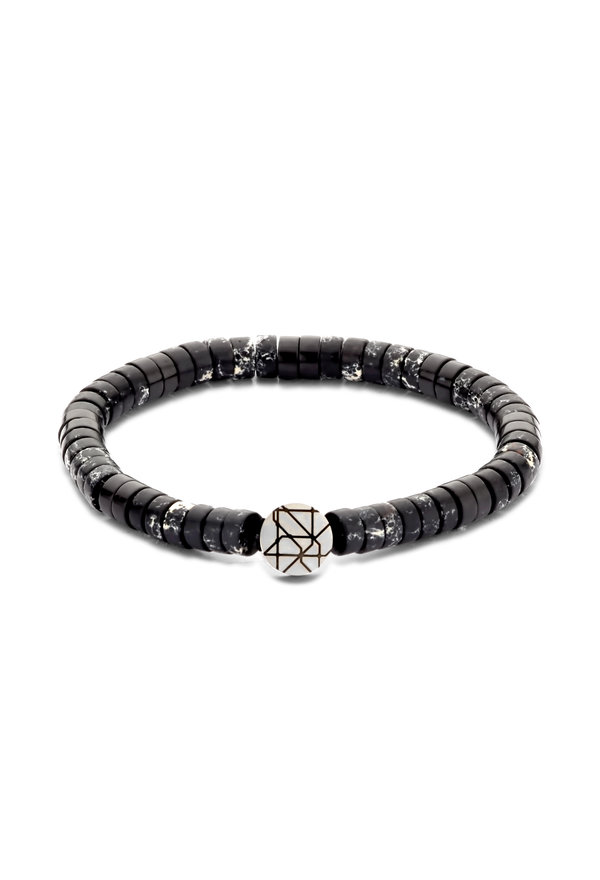Sem Lewis Piccadilly South Kensington beaded armbånd sort