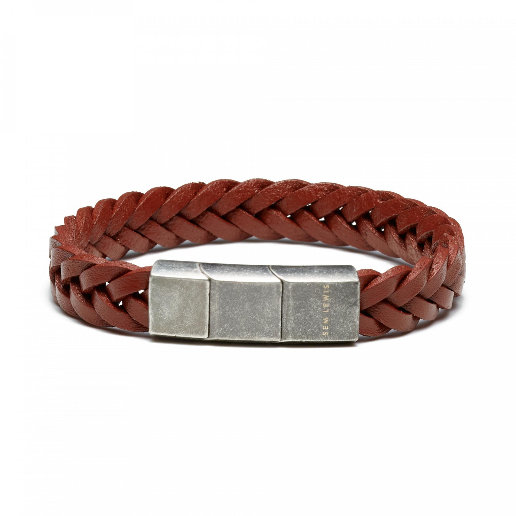 Sem Lewis Bakerloo Paddington braccialetto di pelle marrone