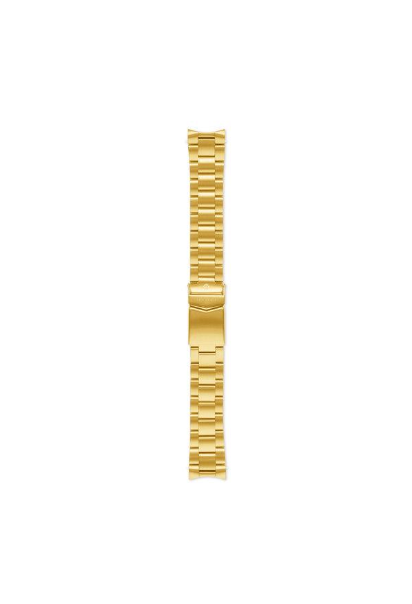 Sem Lewis Lundy Island Diver bracelet de montre en acier 20 mm couleur or
