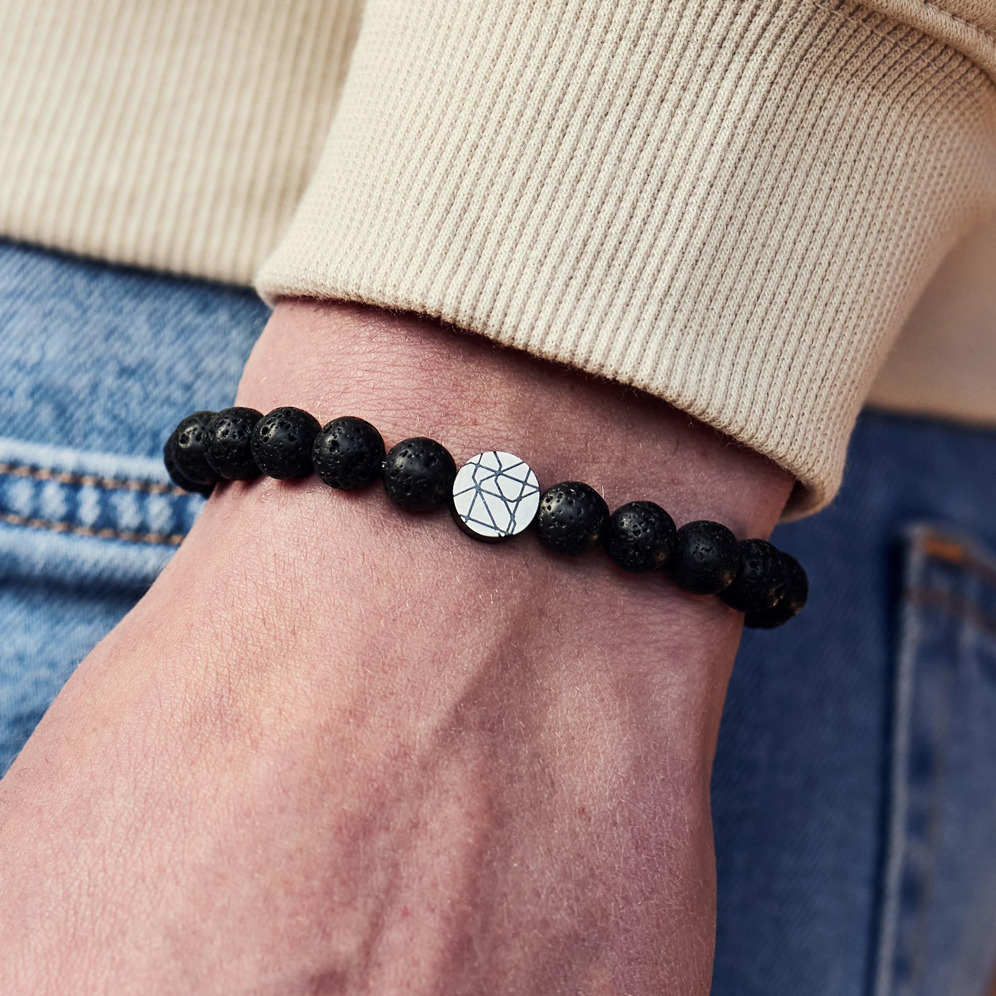 Sem Lewis Piccadilly South Kensington braccialetto di perline nero