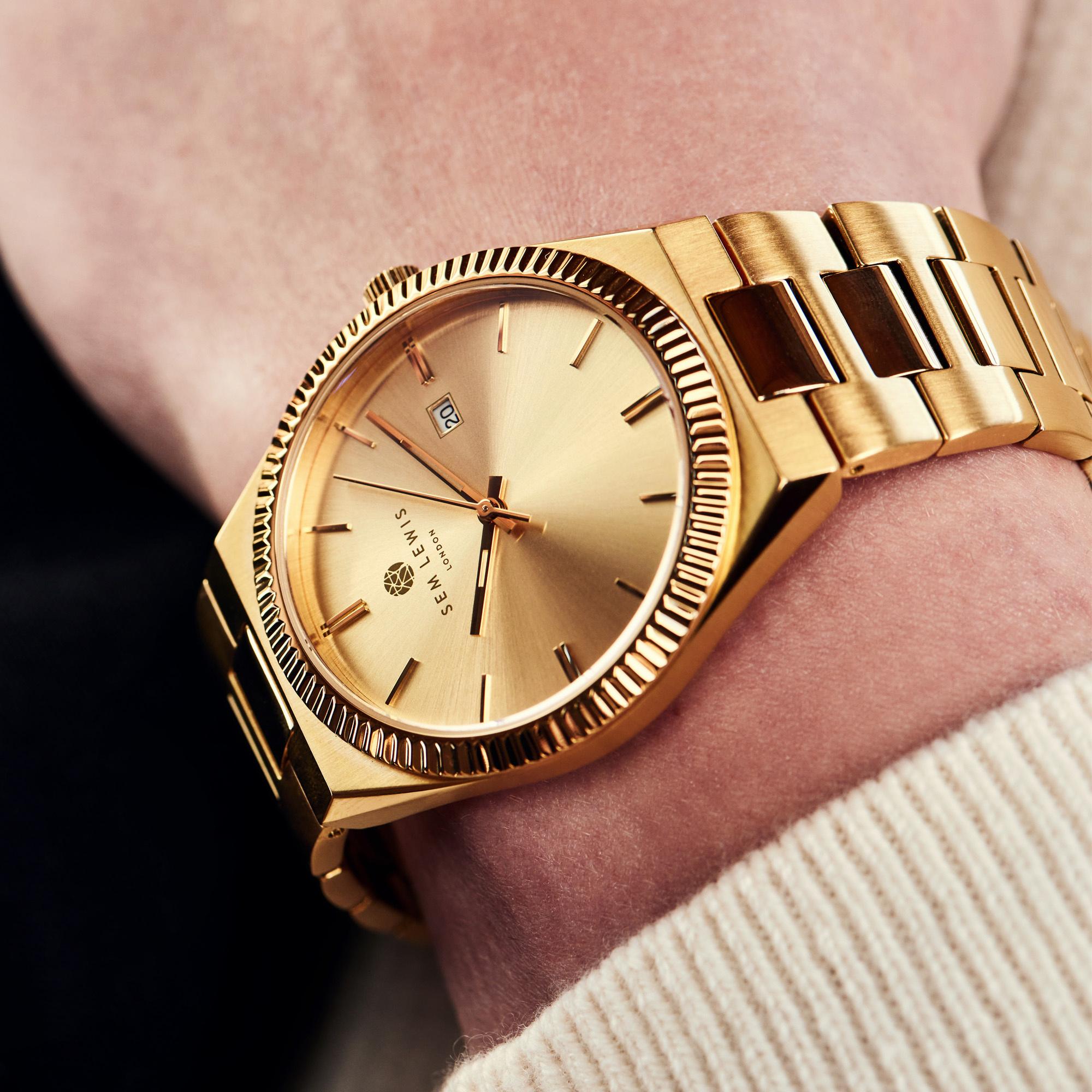 Sem Lewis Aldgate Uhr goldfarben