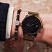 Sem Lewis Piccadilly South Kensington pärlstav armband svart och guldfärgad