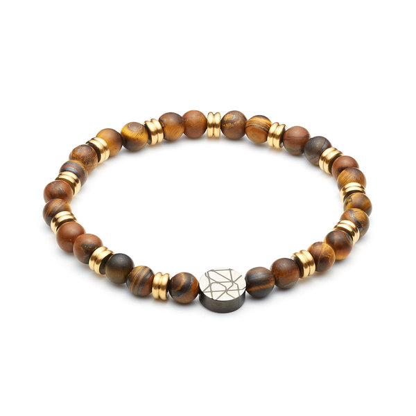 Sem Lewis Piccadilly South Kensington beaded bracelet brown and gold colored