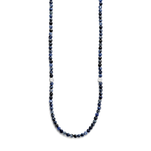 Sem Lewis Piccadilly South Kensington beaded necklace blue