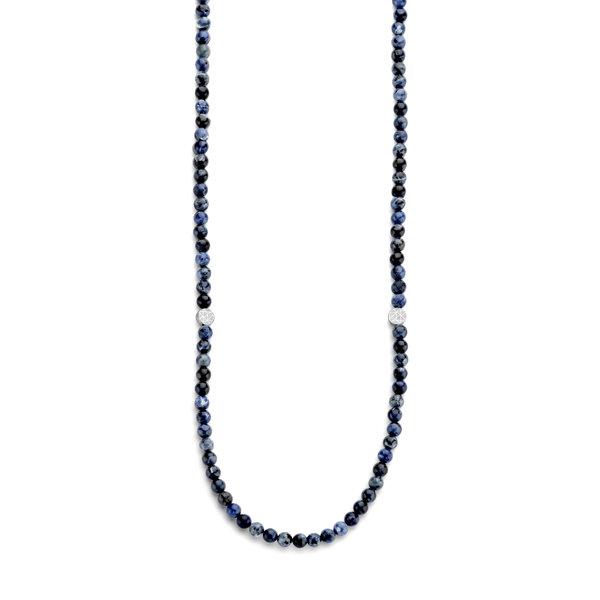 Sem Lewis Piccadilly South Kensington pärlat halsband blå