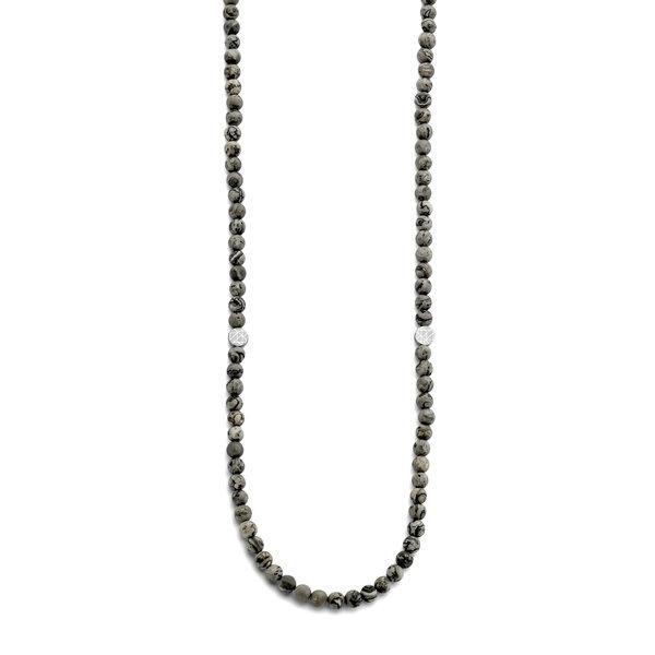 Sem Lewis Piccadilly South Kensington beaded halskæde grå