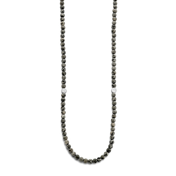 Sem Lewis Piccadilly South Kensington beaded necklace grey