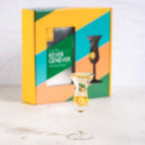 Kever Genever Kever Genever Kopstoot Giftpack met tulpglas