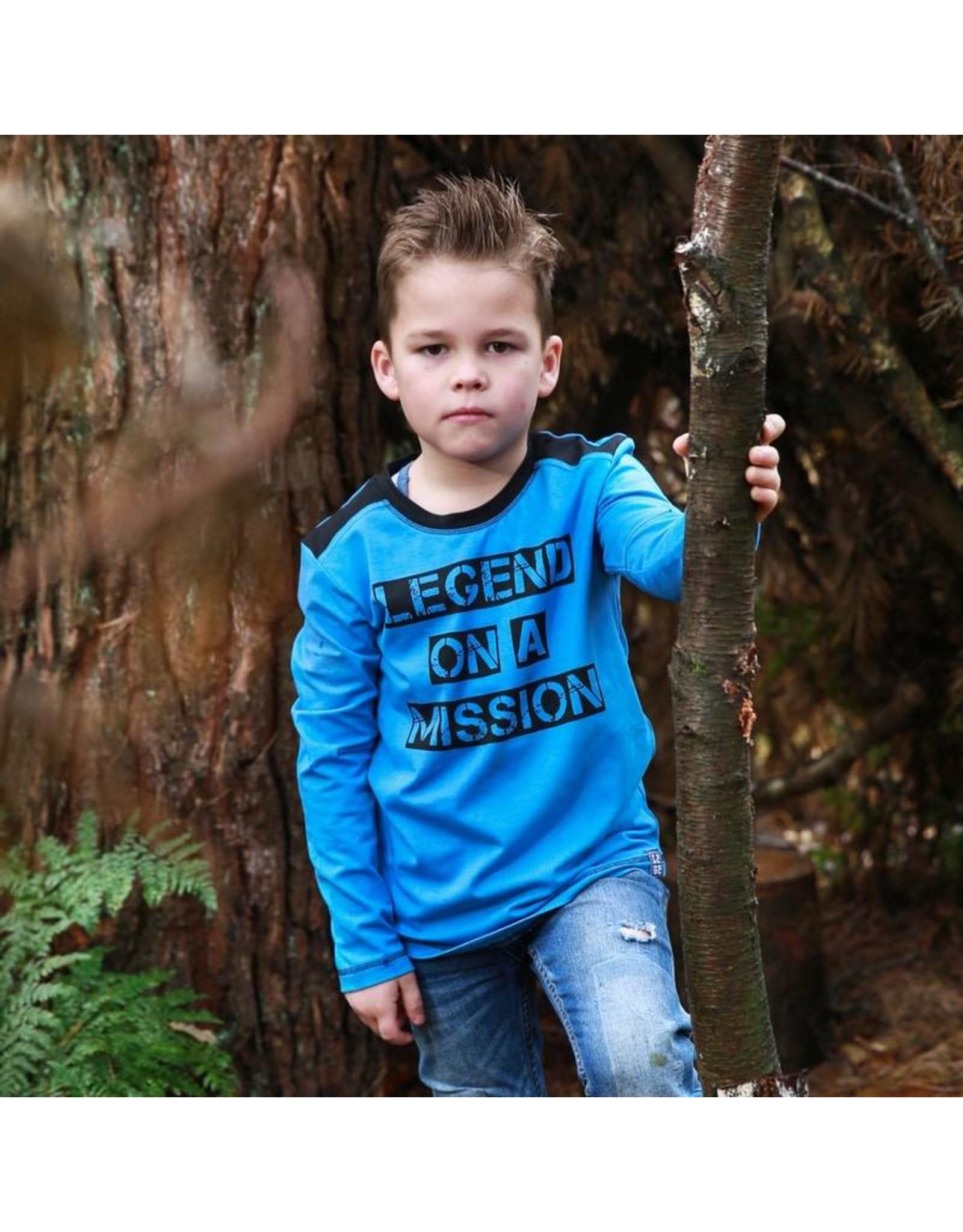 Legends22 Legends22 jongens shirt Legend on a Mission Blue