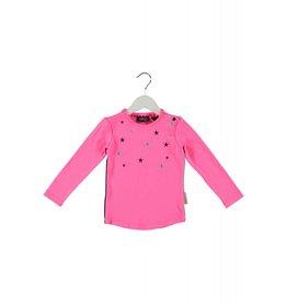 B.Nosy B.Nosy baby meisjes shirt Neon Magenta
