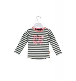 B.Nosy B.Nosy baby meisjes shirt Y/D Stripe Crocodile Marshmallow