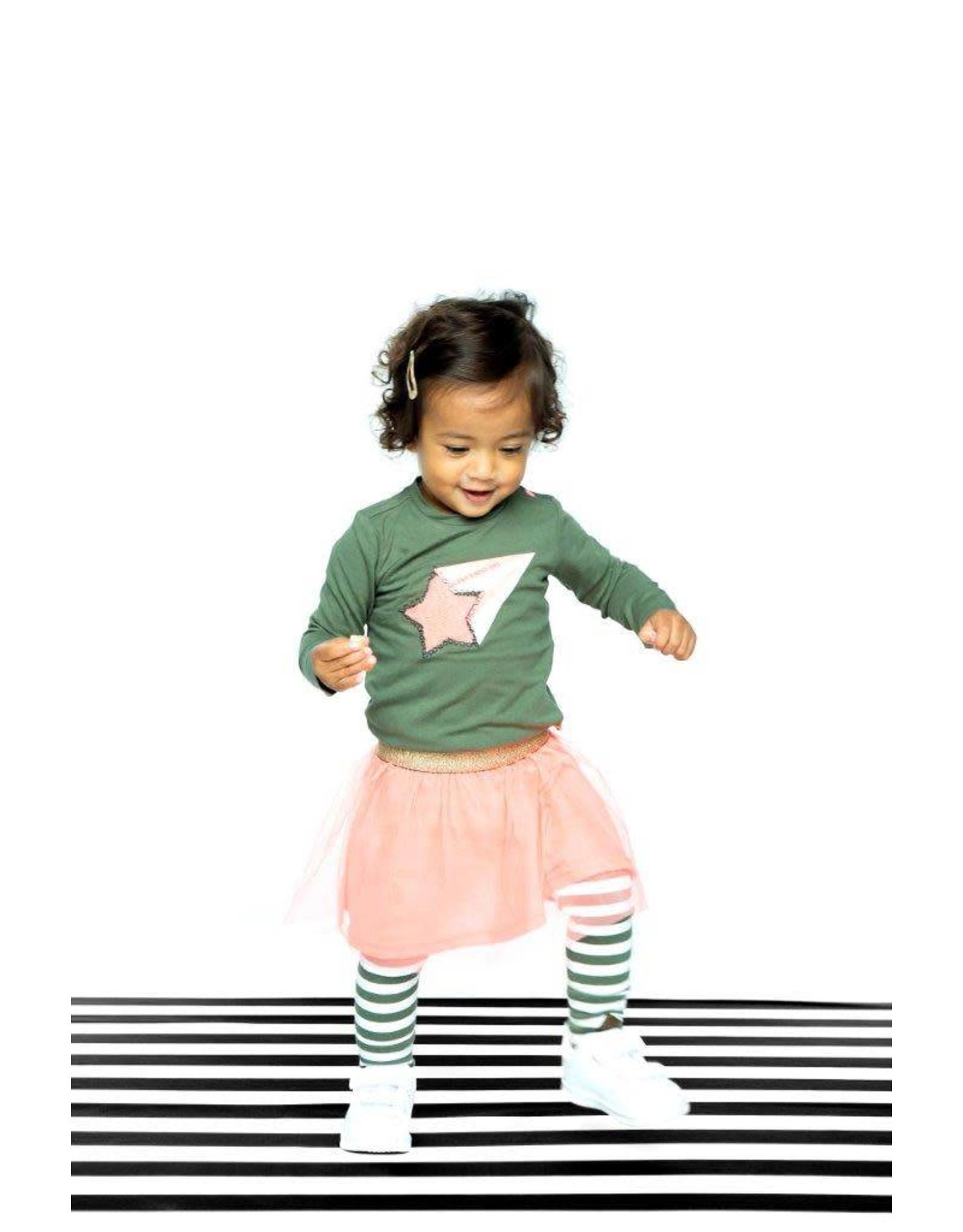 B.Nosy B.Nosy baby meisjes shirt Crocodile