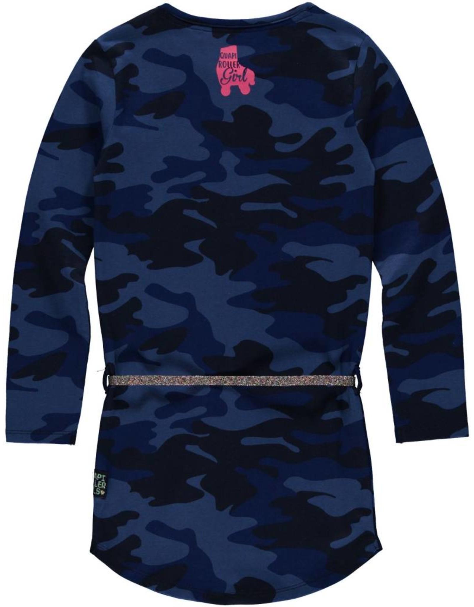 Quapi Quapi meisjes jurk LAMIRA Dark Blue Camouflage