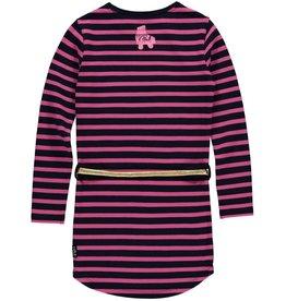 Quapi Quapi meisjes jurk LAMIRA Dark Blue Stripe