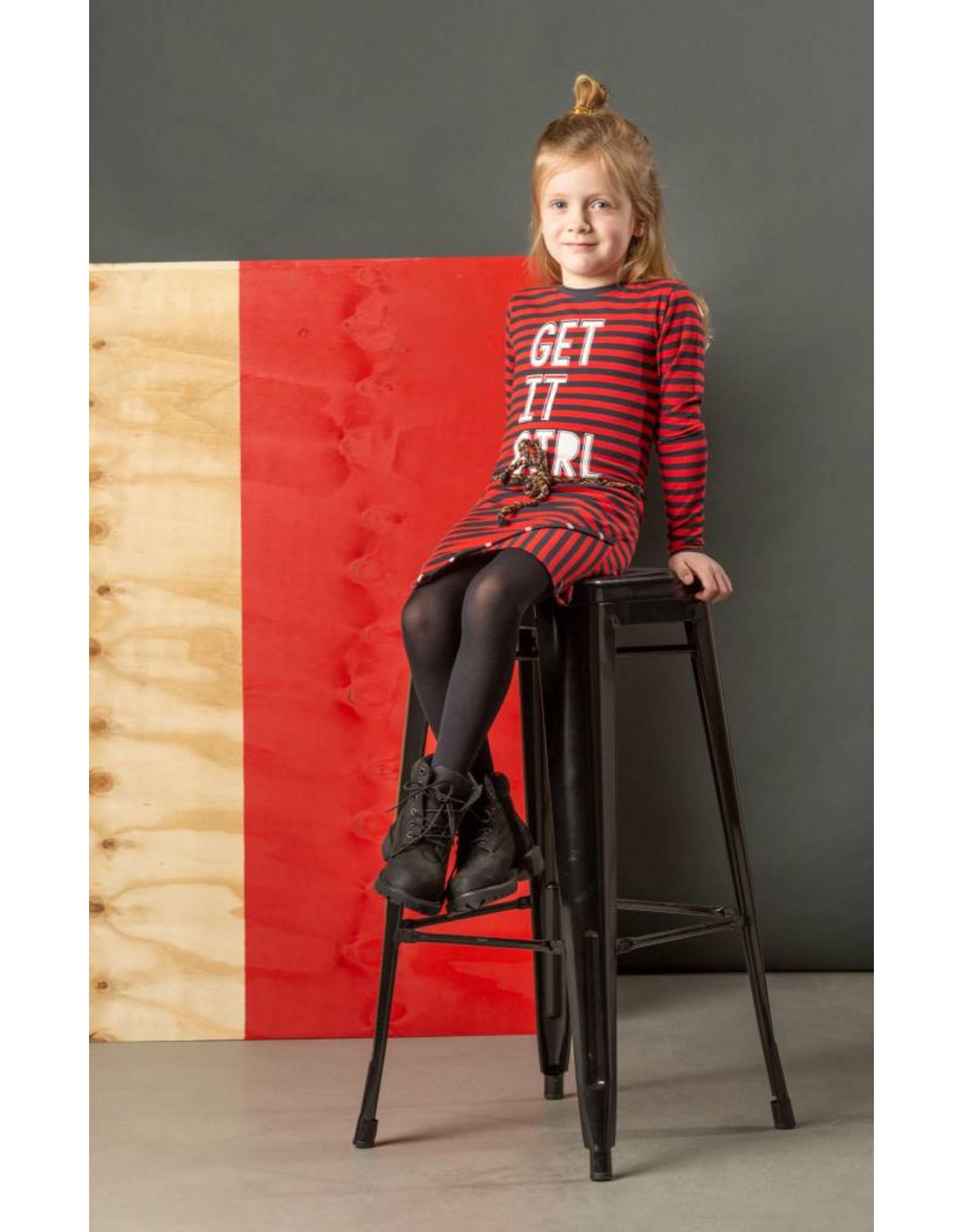 Quapi Quapi meisjes jurk LEONA Diva Red Stripe