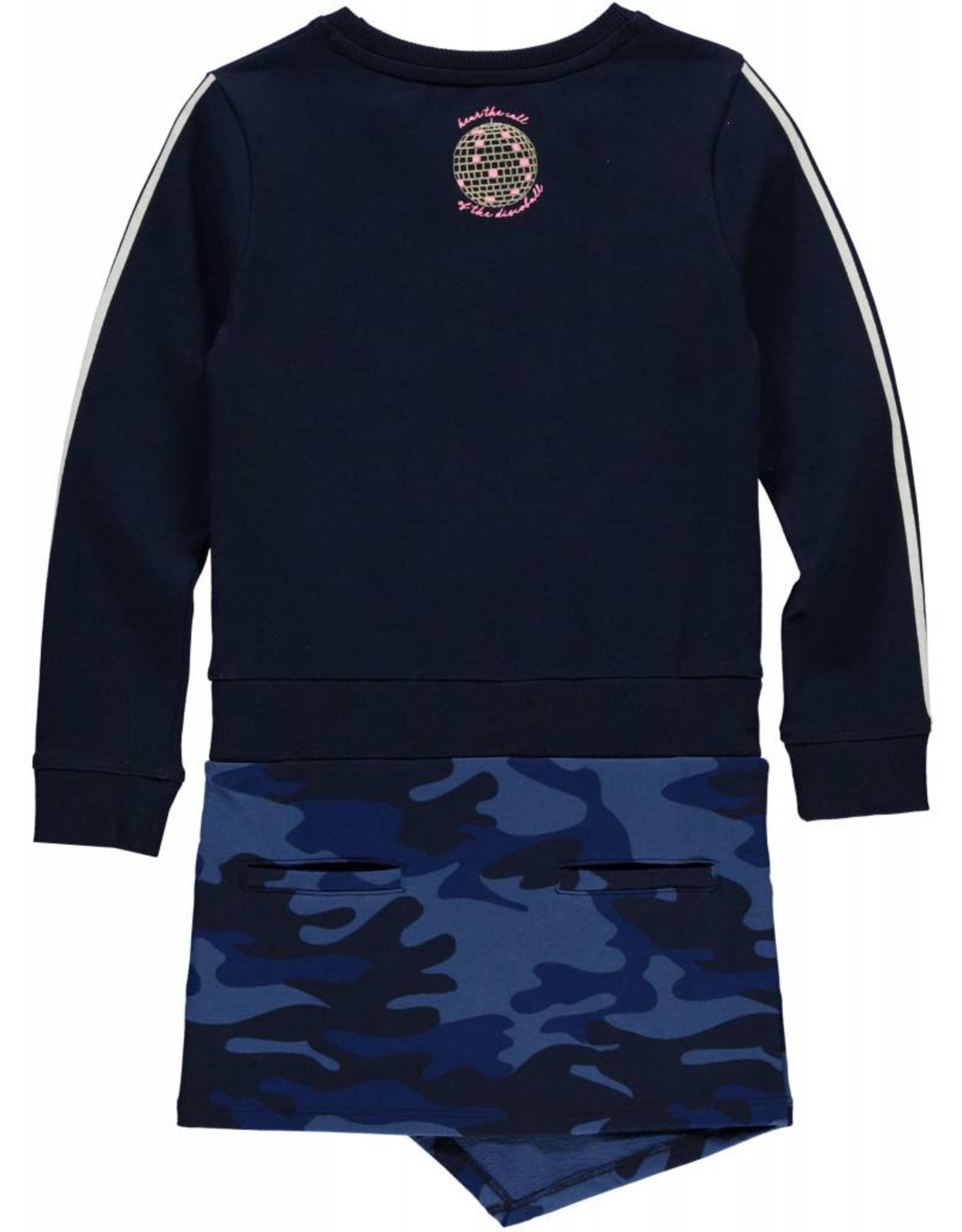 Quapi Quapi meisjes jurk LIZ Dark Blue