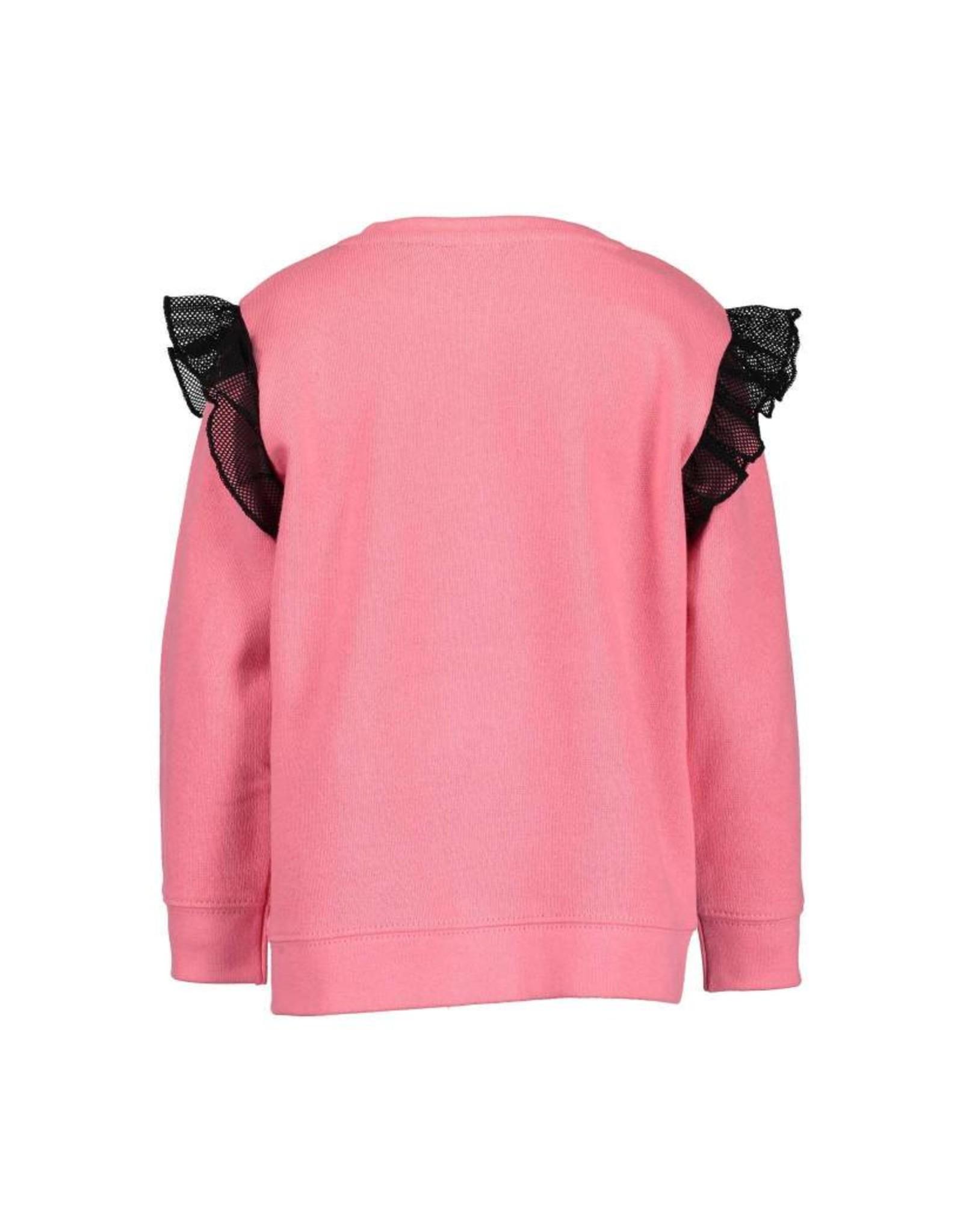 Blue Seven Blue Seven meisjes sweater Believe in Stars Pink