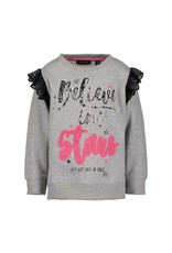 Blue Seven Blue Seven meisjes sweater Believe in Stars Grey