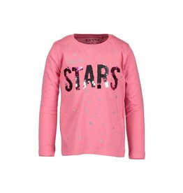 Blue Seven Blue Seven meisjes wrijfshirt Stars Pink
