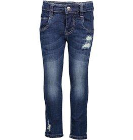 Blue Seven Blue Seven spijkerbroek met slijtageplekken