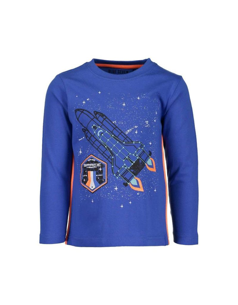 Blue Seven Blue Seven jongens glow in the dark shirt Space Mission