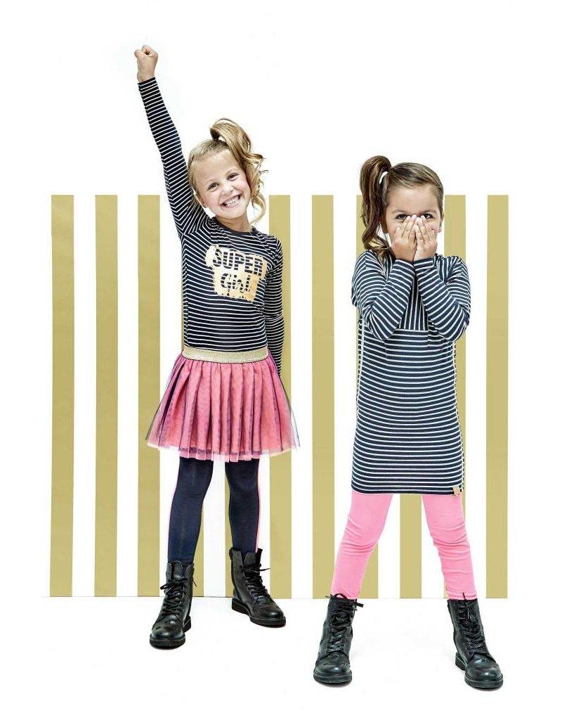 B.Nosy B.Nosy meisjes jurk met glitter strepen