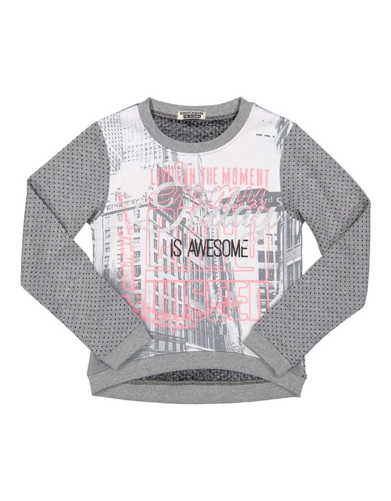 DJ Dutchjeans DJ Dutchjeans meiden sweater So Awesome