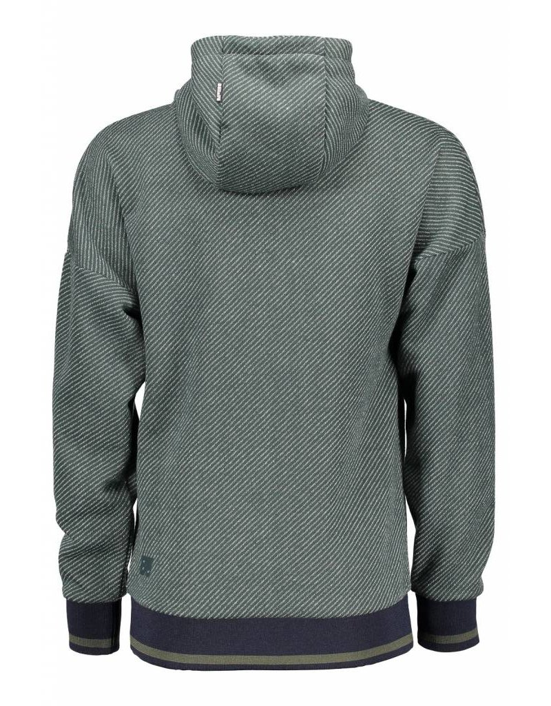 Bellaire Bellaire jongens sweater diagonal knit Wood
