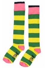 O'Chill O'Chill meiden gestreepte sokken Yellow Green