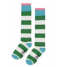 O'Chill O'Chill meiden gestreepte sokken Green White
