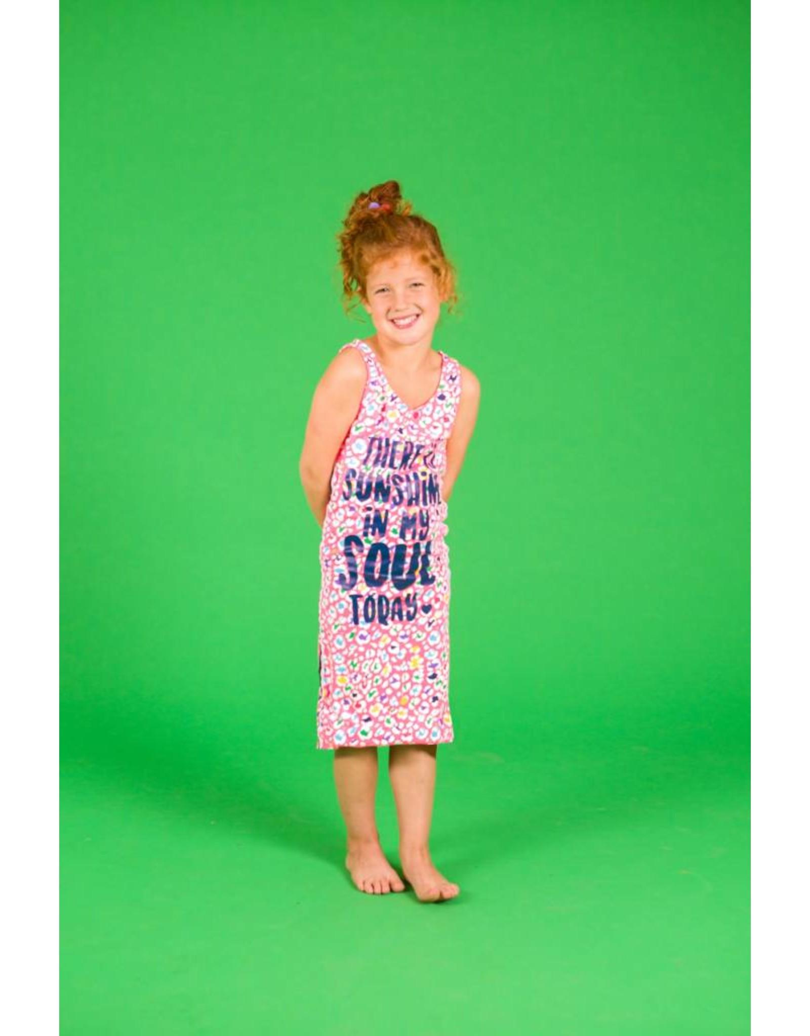 O'Chill O'Chill meiden lange mouwloze jurk Lonneke