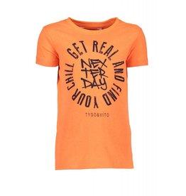 TYGO & vito TYGO & vito jongens neon t-shirt GET REAL