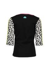 B.Nosy B.Nosy meisjes t-shirt met 3/4 mouw en bliksemschicht