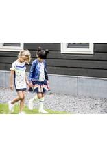 B.Nosy B.Nosy meisjes jurk met vogels en regenboog strepen