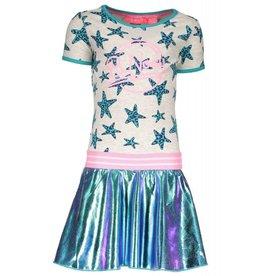 B.Nosy B.Nosy meisjes jurk met panter sterren en een skater rok