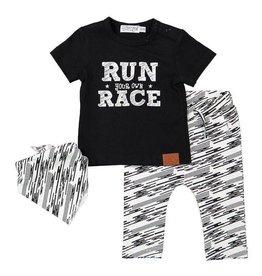 Dirkje Dirkje baby jongens setje Bright Run Your Own Race
