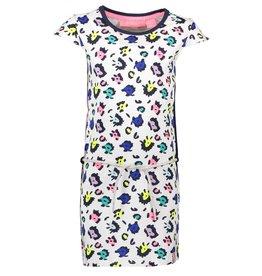 B.Nosy B.Nosy meisjes pantervlekken jurk met centuur
