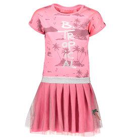 B.Nosy B.Nosy meisjes jurk Aloha met dubbele lagen rok