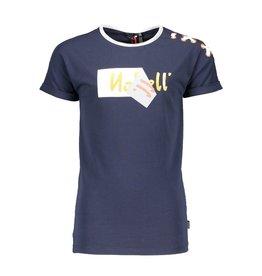 NoBell NoBell meiden t-shirt KaaB met detail op de schouder