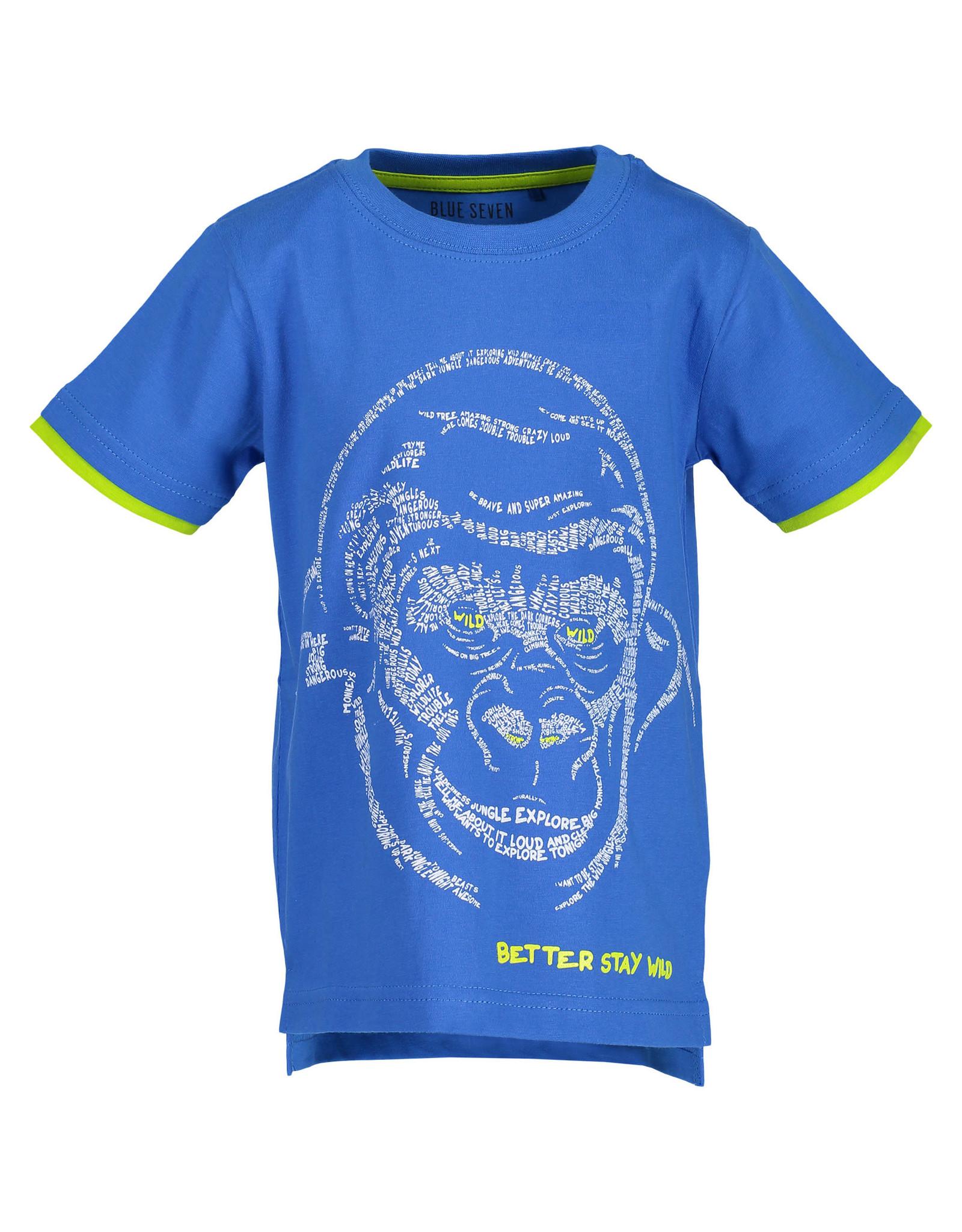 Blue Seven Blue Seven jongens t-shirt BETTER STAY WILD