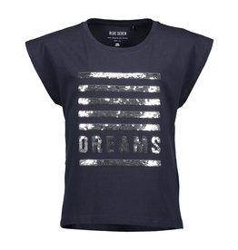 Blue Seven Blue Seven meiden wrijf t-shirt strepen DREAMS